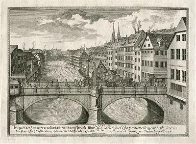 Nuernberg : Kupferstich von Delsenbach