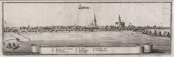 Lützen : Kupferstich aus Matthaeus Merian, Topographia Superioris Saxoniae [...], 1650