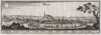 Weida : Kupferstich aus Matthaeus Merian, Topographia Superioris Saxoniae [...], 1650
