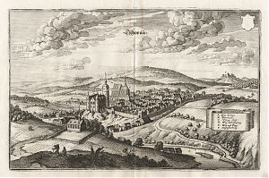 Tschopau : Kupferstich aus Matthaeus Merian, Topographia Superioris Saxoniae [...], 1650