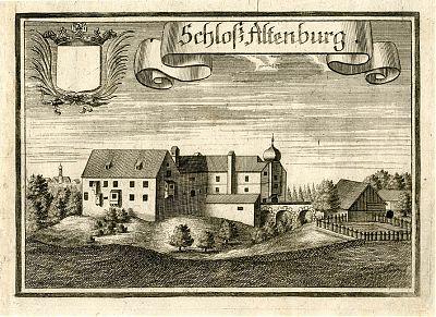 Schloß Altenburg - Kupferstich von Michael Wening, 1701