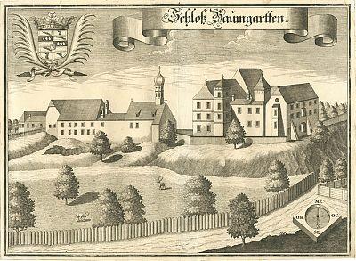 Schloß Baumgarten : Kupferstich von Michael Wening, 1723