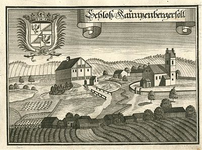 Schloß Haunzenbergsöll - Orig.-Kupferstich von Michael Wening, 1723