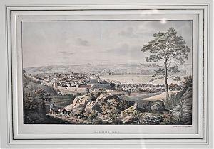 Eichstätt : Altkolorierte Lithographie v. Gustav Kraus, 1828