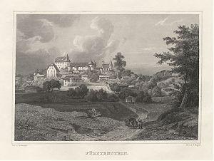 Fürstenstein (Bayer. Wald) : Stahlstich, Poppel/Seeberger, um 1880 / Antiquariat Joseph Steutzger / Buch am Buchrain / www.steutzger.biz