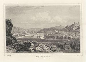 """Eichstätt (""""Eichstaedt""""): Stahlstich von Poppel/Adam, um 1880 / Antiquariat Joseph Steutzger / Buch am Buchrain / www.steutzger.biz"""