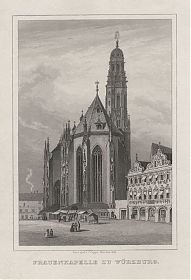 Marienkapelle / Frauenkapelle zu Würzburg. - Stahlstich v. Poppel, um 1850 / Antiquariat Joseph Steutzger