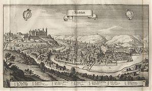 Eichstätt : Kupferstich, Matthaeus Merian, ca 1648 / / Buch- und Kunst-Antiquariat Joseph Steutzger / www.steutzger.biz