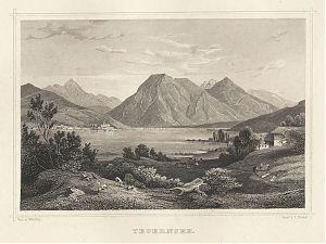 Kloster Tegernsee: Stahlstich, um 1880 // Buch- und Kunst-Antiquariat Joseph Steutzger // www.steutzger.biz // Ankauf alte Stiche