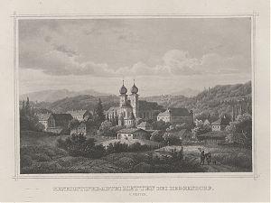 Kloster Metten/bei Deggendorf : Stahlstich, um 1880 // Buch- und Kunst-Antiquariat Joseph Steutzger // www.steutzger.biz // Ankauf alte Graphik in München