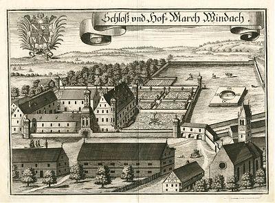 Schloß und Hofmark Windach : Kupferstich von Michael Wening, 1701