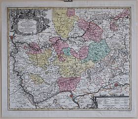 NASSAU : Altkolorierte Kupferstichkarte, Lotter, ca. 1760. - Buch- und Kunst-Antiquariat Joseph Steutzger // www.steutzger.biz - Ankauf alte Graphik in München