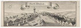 Markt Aidenbach : Kupferstich v. Michael Wening, Expl. der 2. Auflage, gedruckt um 1750. - Graphik-Ankauf Antiquariat Joseph Steutzger / www.steutzger.biz