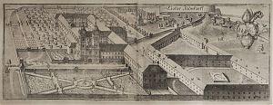 Kloster Indersdorf / Kupferstich von Michael Wening, 2. Auflage, ca. 1750 // Ankauf alte Stiche / Antiquariat Joseph Steutzger
