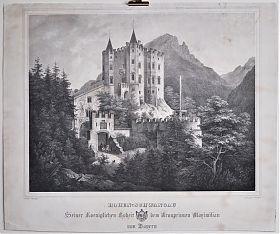 Hohenschwangau : Lithographie Woelfle/Domenico Quaglio / Antiquariat Joseph Steutzger