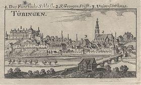 Tübingen : Kupferstich, Riegel, 1689. - Ankauf alte Stiche / Joseph Steutzger