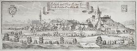 Schloß und Marckh der Churfürst: Reichs Graffschafft Haag : Kupferstich, Michael Wening, c. 1750 / Graphik-Antiquariat Joseph Steutzger - Ankauf alte Graphik/Stiche - https://ankauf-grafik.de