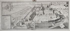 Kloster Raitenhaslach: Kupferstich, Michael Wening, 2. Auflage, gedruckt ca. 1750 - Graphik-Antiquariat Joseph Steutzger - https://ankauf-grafik.de