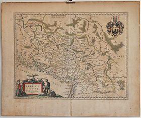 Schlesien : Silesia Ducatus - Kupferstichkarte bei Blaeu, 1640/1670 - Antiquariat Joseph Steutzger