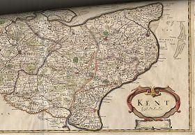 Kent: county map, copper engraved, Robert Morden