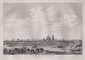 Tver/Kalinin/Russland: Kupferstich, Lespinasse, 1783 - Antiquariat Steutzger