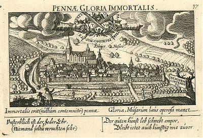 """Haiger : Kupferstich aus """"Meisner Schatzkästlein"""", 1624"""