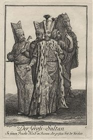 Türkei/Osmanisches Reich: Gross-Sultan in seinen Pracht-Kleide an Bairam - Kupferstich, Weigel, 1723 - Antiquariat Joseph Steutzger