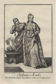 Türkei/Osmanisches Reich: Sultane Asseki. - Kupferstich, Weigel, 1723 - Antiquariat Joseph Steutzger