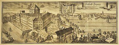 Schloß Poxau : Kupferstich von Michael Wening, Rentamt Landshut, 1723 (Exemplar der Erstauflage)