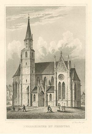 """""""Pfarrkirche zu Nabburg"""", Stahlstich"""